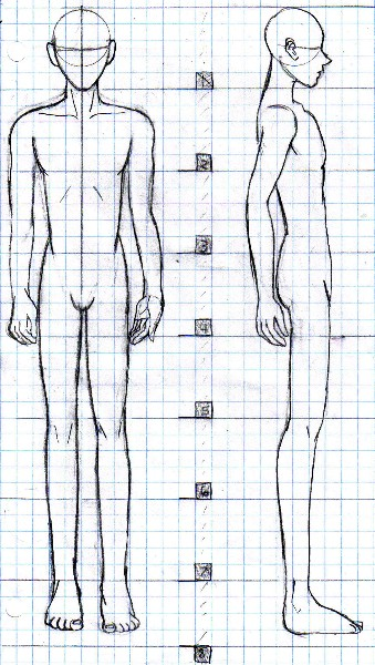 anime boy outline body: How To Draw Men